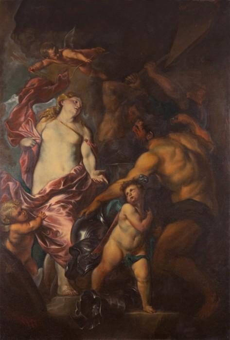 Vénus demande à Vulcain de forger des armes pour son fils Énée (Anton van DYCK)