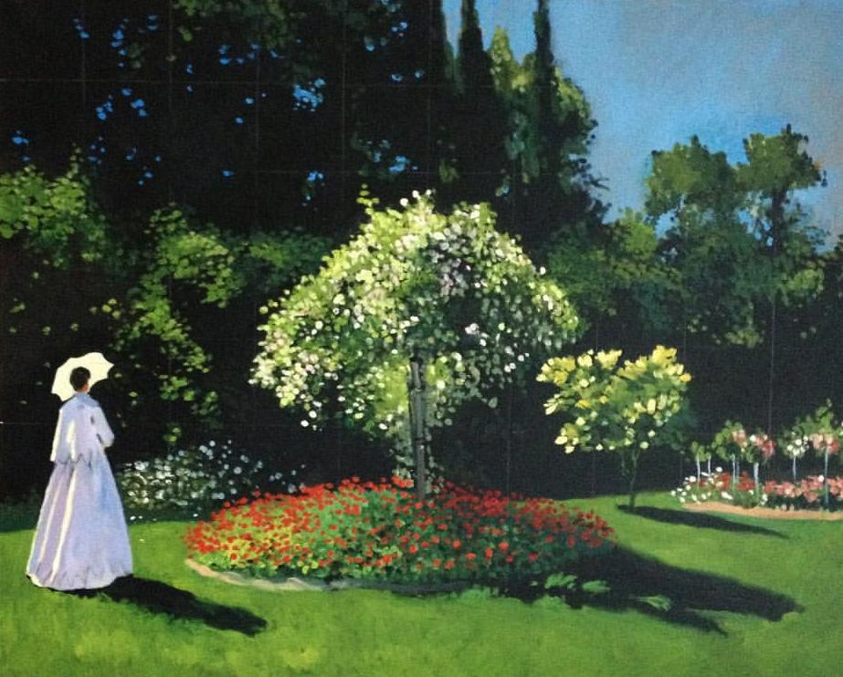 La dame blanche au jardin (Claude Monet)
