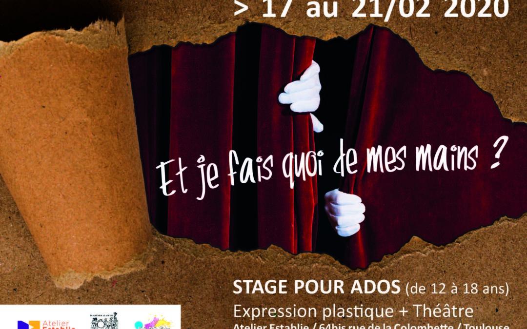 Stage vacances pour Ado du 17 au 21 février